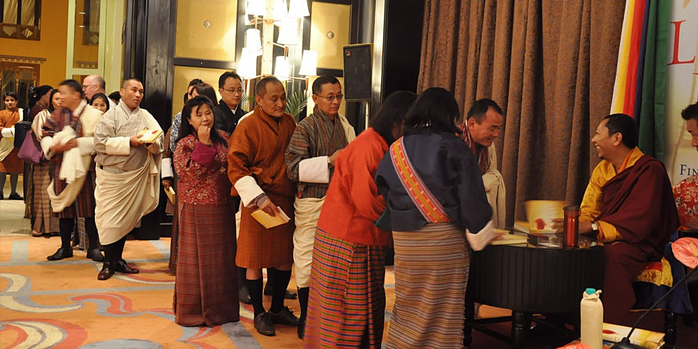 Book launch for Living Fully, Bhutan, September 2012