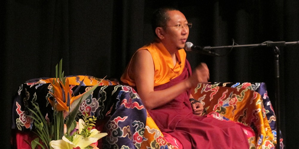 Rinpoche at teaching series: Peaceful Mind and Compassionate Heart in Hong Kong, 2011.